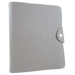 HERMES Hermes Yuris PM Togo Ethane □ P engraved unisex notebook cover [used] A rank