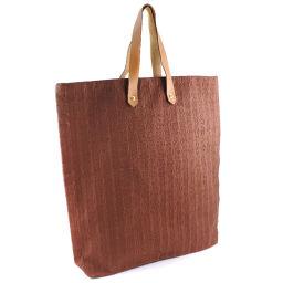 HERMES Hermes Amedaba Canvas Brown Ladies Handbag [Used] A rank