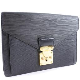 LOUIS VUITTON Louis Vuitton Serie Dragonne M52612 Epi Leather Black VI0040 Engraved Men's Second Bag [Used] B-Rank
