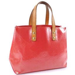 LOUIS VUITTON Louis Vuitton Reed PM M9132F Verni Franboise Pink MI0016 Engraved Ladies Handbag [Used]