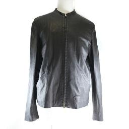 FENDI FENDI leather dark brown men's no collar jacket [used] A-rank