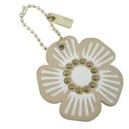 COACH Coach Flower / Flower Charm Beige Ladies Keychain [Used] A Rank