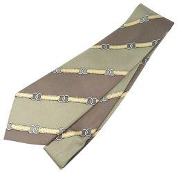 HERMES Hermes Silk Brown Men's Tie [Used]