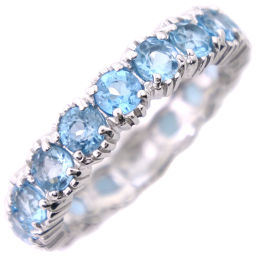 STAR JEWELRY Star Jewelry Eternity K18 White Gold x Blue Topaz Ladies Ring / Ring [Used] SA Rank