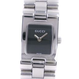 GUCCI Gucci 2305L Stainless Steel Quartz Analog Display Ladies Black Dial Watch [Used]