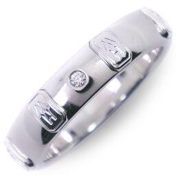 HARRY WINSTON Harry Winston logo band K18 white gold × diamond No. 12.5 ring / ring [used] A rank