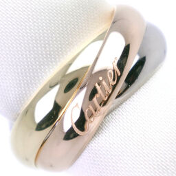 CARTIER Cartier Trinity Triple K18 Gold No. 7 YG / PG / WG Ladies Ring / Ring [Used] A rank