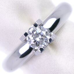 CARTIER Cartier C de Cartier Solitaire K18 White Gold x Diamond No. 8.5 Ladies Ring / Ring [Used] A rank