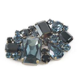 MIUMIU Stone x GP Black Ladies Brooch [Used]