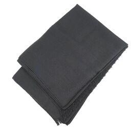 GUCCI Gucci Wool x Silk Black Unisex Stole [Used] A-Rank