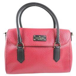 Kate Spade Kate Spade 2WAY Shoulder Leather Red Ladies Handbag [Used] A rank
