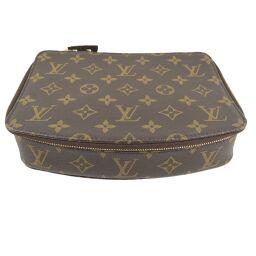 LOUIS VUITTON Louis Vuitton Posh Monte Carlo Jewelry Case M47350 Monogram Canvas Brown SN2173 Engraved Unisex Pouch [Used] A + Rank