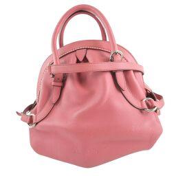 Salvatore Ferragamo Salvatore Ferragamo 2WAY Shoulder Gancio Calf Pink Ladies Handbag [Used] A rank