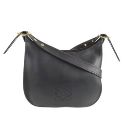 LOEWE Loewe Sophia Calf Black Unisex Shoulder Bag [Used] A + Rank
