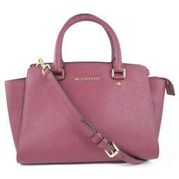Michael Kors Michael Kors 2WAY Shoulder Leather Red Ladies Handbag [Used] A-Rank