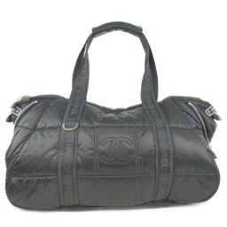 CHANEL Sports Line Nylon Black Ladies Boston Bag [Used] A rank