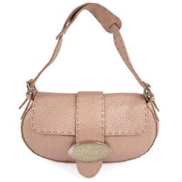 FENDI FENDI Celeria 8BR407 00NDU F0WQ7 Calf Pink Gold Ladies Handbag [Used]