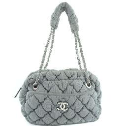 CHANEL Matrasse Nylon Gray Women's Shoulder Bag [Used] A-Rank