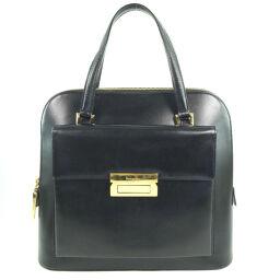 Salvatore Ferragamo Salvatore Ferragamo Calf Black Ladies Handbag [Used]