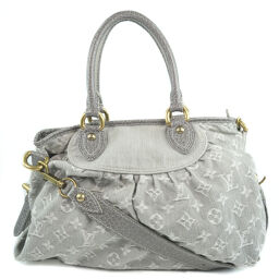 LOUIS VUITTON Neo Kaby MM M95837 Monogram Denim Gray TH2039 Engraved Ladies Handbag [Used] A-Rank