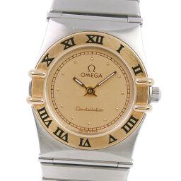 OMEGA Omega Constellation Mini Stainless Steel x GP Quartz Analog Display Ladies Gold Dial Wrist Watch [Used] A-Rank