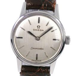 OMEGA オメガ シーマスター cal.620 ステンレススチール×レザー 手巻き レディース シルバー文字盤 腕時計【中古】