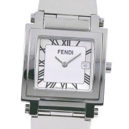 FENDI フェンディ オロロジ 007-6000G-697 ステンレススチール シルバー クオーツ メンズ 白文字盤 腕時計【中古】A-ランク