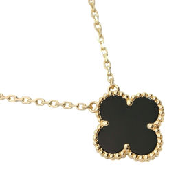 Van Cleef & Arpels Van Cleef & Arpels Vintage Alhambra VCARA45800 K18 Yellow Gold x Onyx Ladies Necklace [Used] SA rank