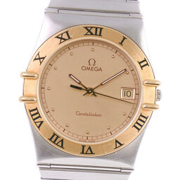 OMEGA Omega Constellation Combination cal.1438 1410.10 Gold & Steel Quartz Men's Gold Dial Watch [Used]