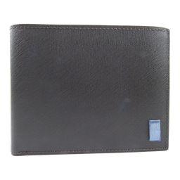 Dunhill ダンヒル レザー 茶 メンズ 二つ折り財布【中古】Sランク