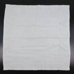 HERMES Hermes Hand Towel Cotton White Ladies Towel [Used] A + Rank