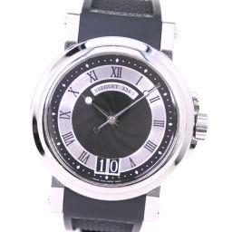 Breguet Breguet Marine 2 Big Date 5817ST Rubber × Stainless Steel Self-winding Men's Black Dial Watch [Used] A-Rank