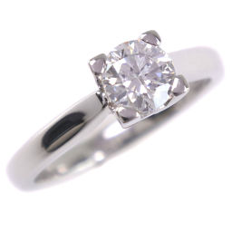 HARRY WINSTON Harry Winston solitaire ring F-VS2-EX NONE Pt 950 platinum No. 7 D. 0.50 engraved women's ring · ring [pre] SA rank
