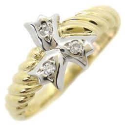 Dior クリスチャンディオール K18イエローゴールド×Pt900プラチナ×ダイヤモンド 11号 レディース リング・指輪【中古】SAランク