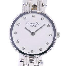 <html>    <body>   Dior クリスチャンディオール バキラ D44-120 ステンレススチール×ラインストーン クオーツ レディース 白文字盤 腕時計【中古】A-ランク        </body> </html>