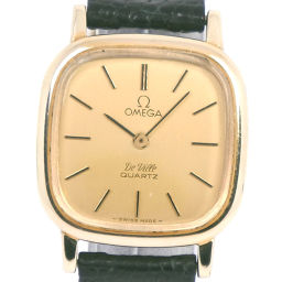 OMEGA オメガ デヴィル/デビル ステンレススチール ブラック クオーツ レディース ゴールド文字盤 腕時計【中古】