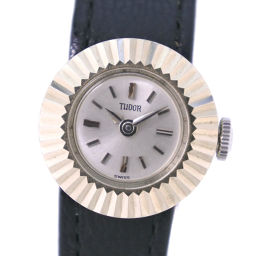 TUDOR Tudor chameleon 1703 stainless steel × leather hand-rolled women's silver dial watch [pre]