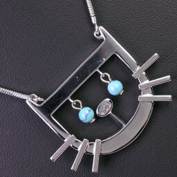 Dior Christian Dior Turquoise Women's Necklace [Used] A-Rank