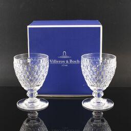 <html>       Villeroy&Boch ビレロイ&ボッホ ボストンペアワイングラス/ワイングラス×2個 8×H16cm ガラス クリア 食器【中古】Sランク        </body> </html>