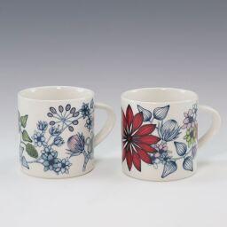 ARABIA Arabia Runo Mug x 2 Autumn Glow & Spring Ceramic Multicolor Tableware [Used] S Rank