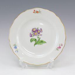 Meissen Meissen Basic Flower Plate 18cm 030110/00501 / motif No.05 Ceramic White Tableware [Used] A + Rank