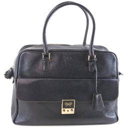 Anya Hindmarch Anya Hind March 2WAY Shoulder Leather Black Ladies Handbag [Pre]