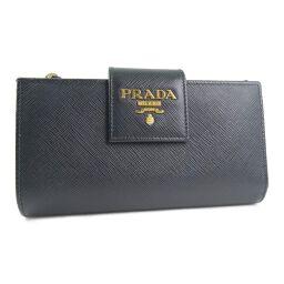 PRADA プラダ SAFFIANO METAL 1ML005×サフィアーノ NERO 黒 レディース 長財布【中古】Aランク