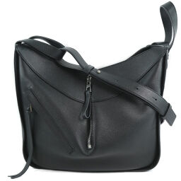 LOEWE Loewe Hammox Mall 387.30.S35 Calf Black Ladies Shoulder Bag [Used] A + Rank