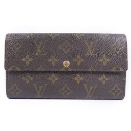 LOUIS VUITTON Louis Vuitton Portofoiyusara M61734 Monogram Canvas Brown CA0928 Engraved Unisex Wallet [Used]