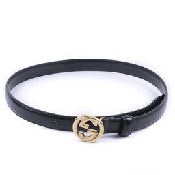 GUCCI Gucci GG Vintage 65-26 036.1766.0980.0 Calf Black Ladies Belt [Used]