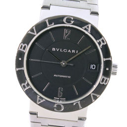 BVLGARI ブルガリ ブルガリブルガリ BB33SSAUTO ステンレススチール 自動巻き メンズ 黒文字盤 腕時計【中古】A+ランク