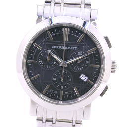 BURBERRY バーバリー ヘリテージ BU1360 ステンレススチール クオーツ メンズ 黒文字盤 腕時計【中古】
