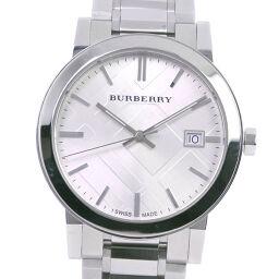 BURBERRY バーバリー BU9000 ステンレススチール クオーツ メンズ シルバー文字盤 腕時計【中古】