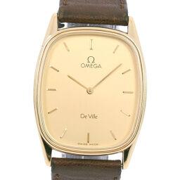 OMEGA オメガ デヴィル/デビル GP×レザー ゴールド クオーツ メンズ ゴールド文字盤 腕時計【中古】